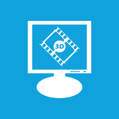 3d: 3D movie monitor icon