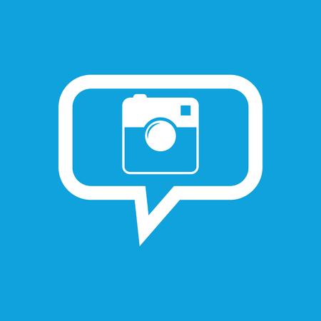 microblog: Square camera message icon Illustration
