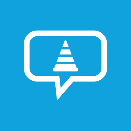 Traffic cone message icon