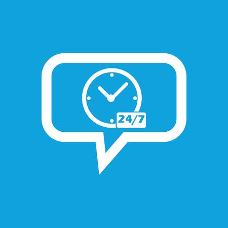 overnight: Pernottamento workhours quotidiane messaggio icona Vettoriali