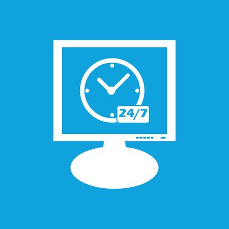 overnight: Pernottamento workhours quotidiane icona del monitor Vettoriali