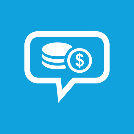 rouleau: Dollar rouleau message icon Illustration