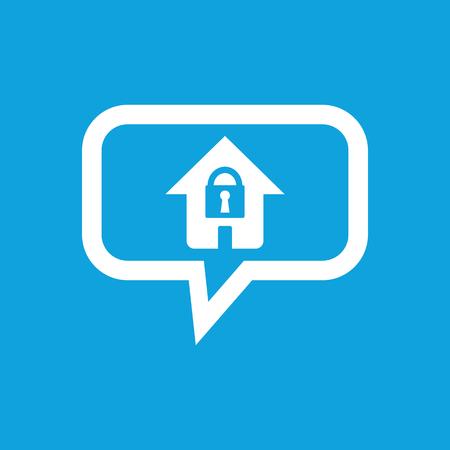 locked: Locked house message icon Illustration