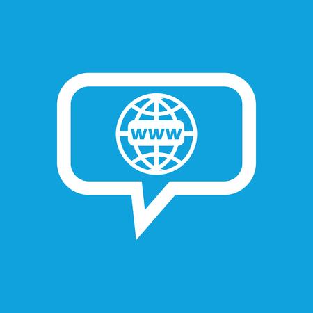 meridiano: icono de mensaje de red global