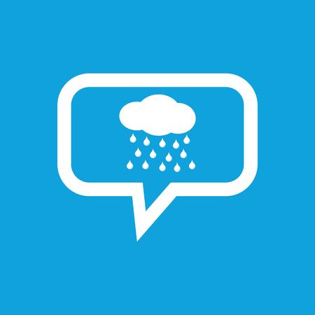sleet: Rain message icon Illustration