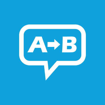 derivation: A to B message icon