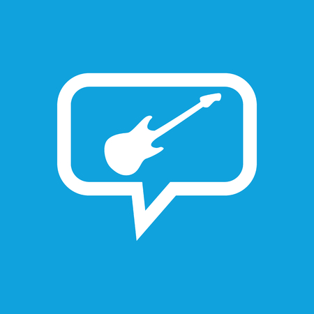 lead guitar: Guitar message icon