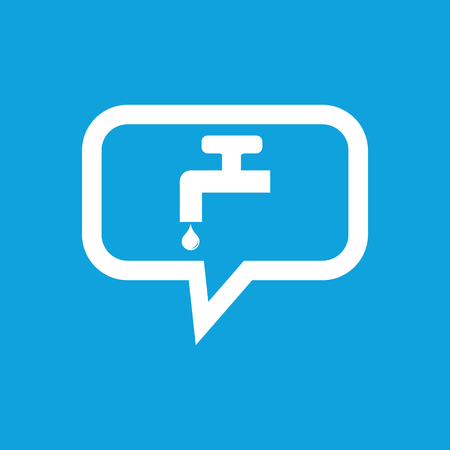 watertap: Water tap message icon Illustration