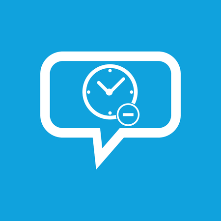 reduce: Reduce time message icon