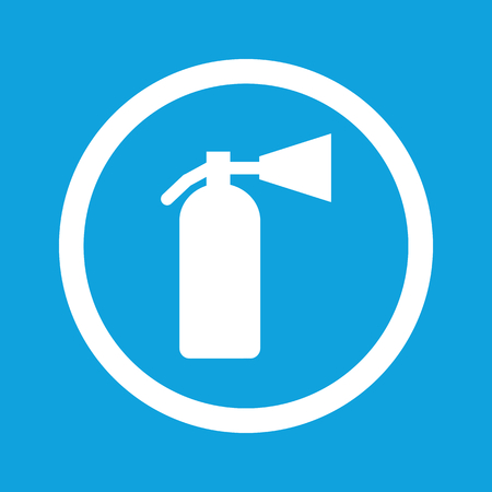 conflagration: Fire extinguisher sign icon