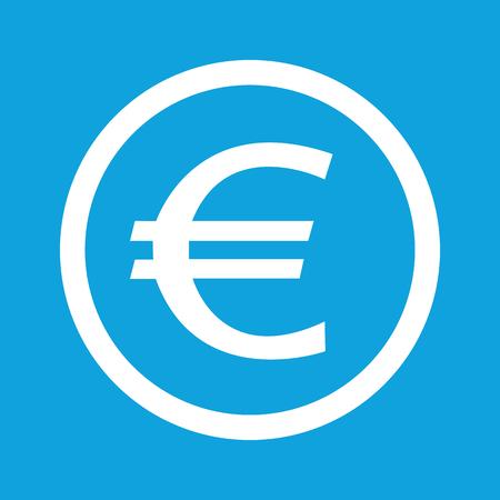 euro teken: Euro sign icon Stock Illustratie