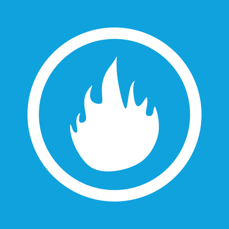 conflagration: Fire sign icon Illustration
