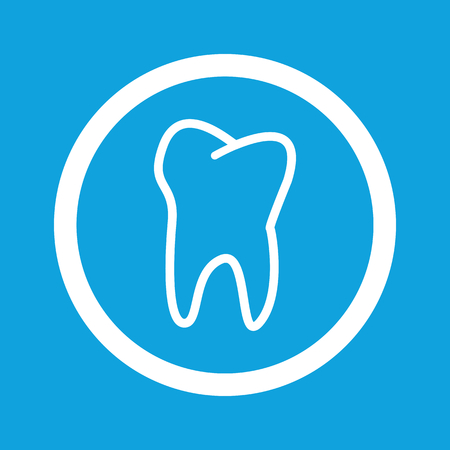 Tooth sign icon Illustration