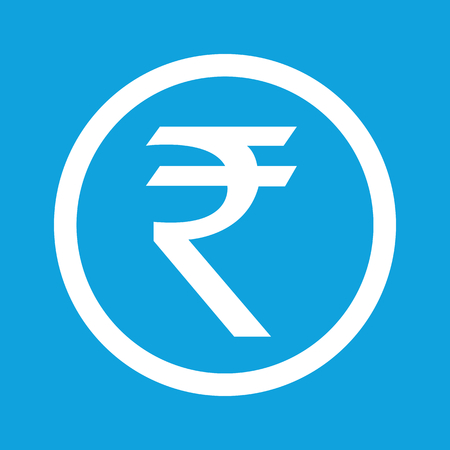 financial symbols: Rupee sign icon Illustration