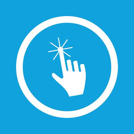 hand cursor: Hand cursor sign icon