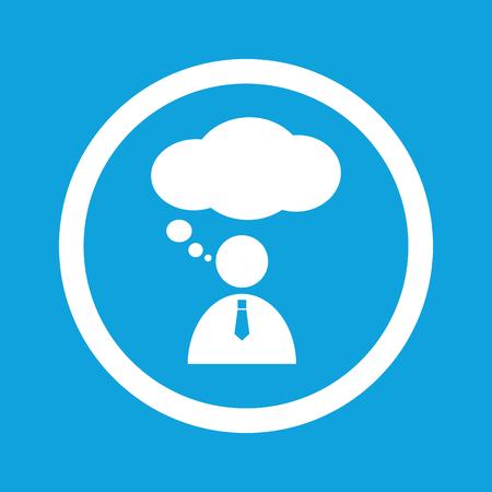 denkender mensch: Thinking Person Zeichen Symbol
