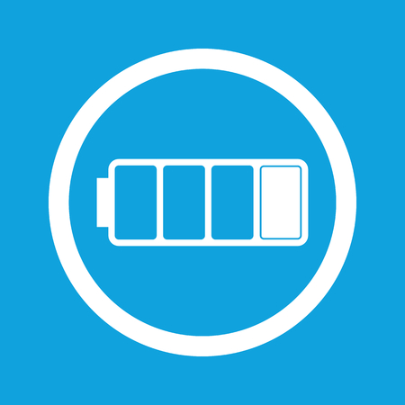 low battery: Low battery sign icon