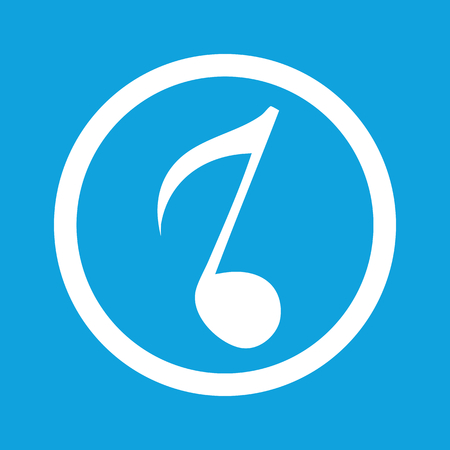 eighth: Eighth note sign icon Illustration