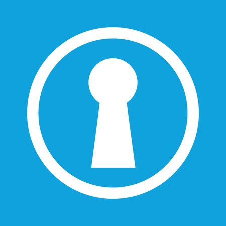 chink: Keyhole sign icon Illustration