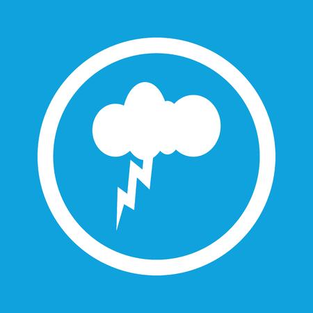 thunderstorm: Thunderstorm sign icon Illustration