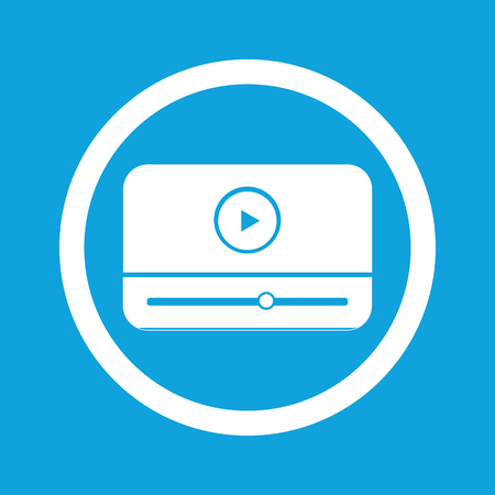 windows media video: Mediaplayer sign icon