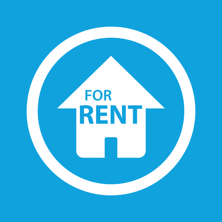 house for rent: House for rent sign icon Illustration