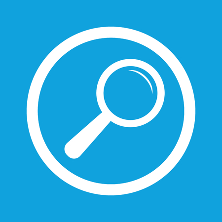 a round of inspection: Search sign icon Illustration
