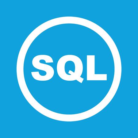 SQL sign icon Illustration