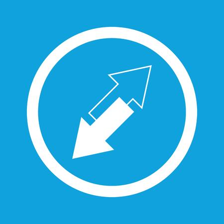 opposite arrows: Opposite arrows sign icon