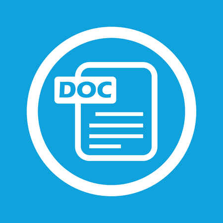 ms: DOC file sign icon