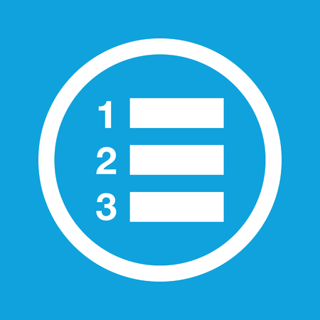 enumerated: Numbered list sign icon