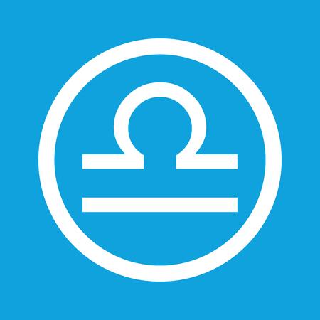 Libra: Libra sign icon Illustration