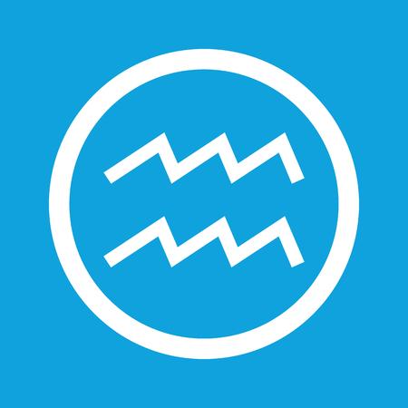 water bearer: Aquarius sign icon