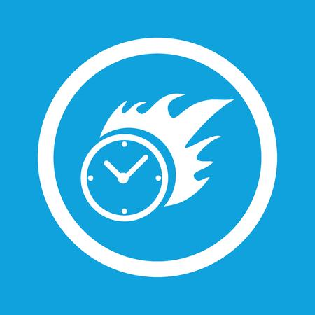 bounds: Burning clock sign icon