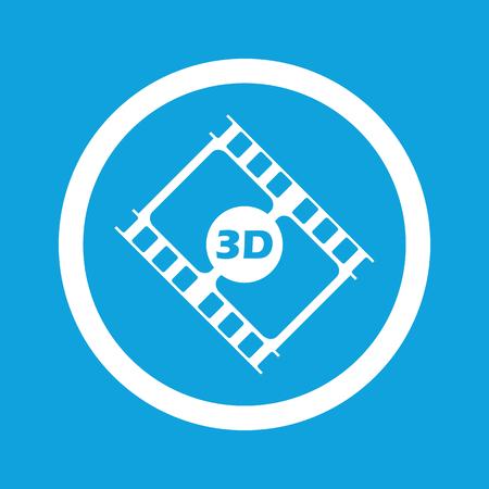 3d: 3D movie sign icon Illustration