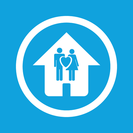 family house: Family house sign icon