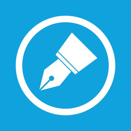Ink pen nib sign icon Illustration