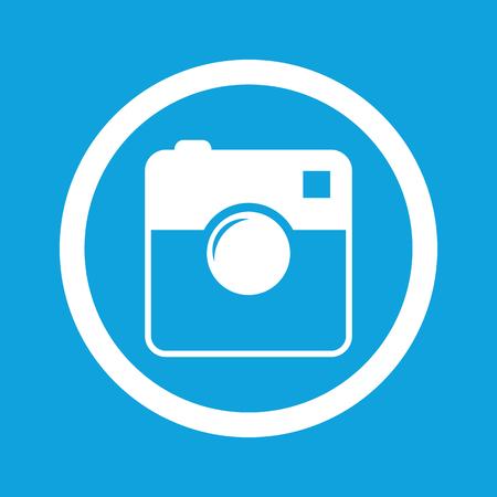 microblog: Square camera sign icon
