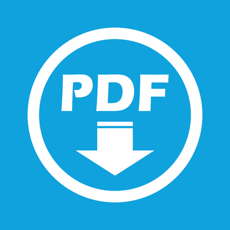 page down: PDF download sign icon