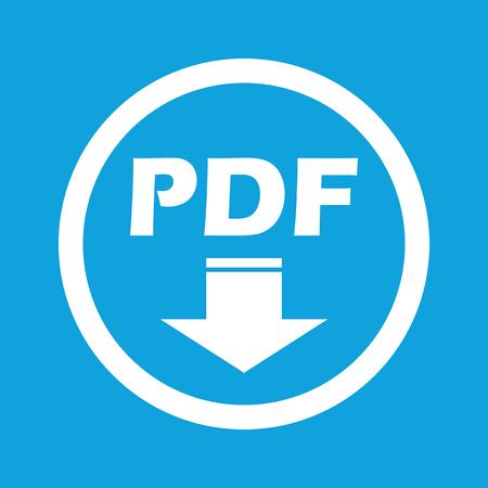pdf: PDF download sign icon