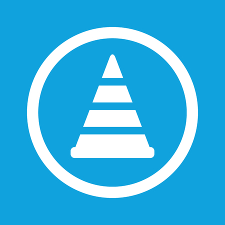 Traffic cone sign icon