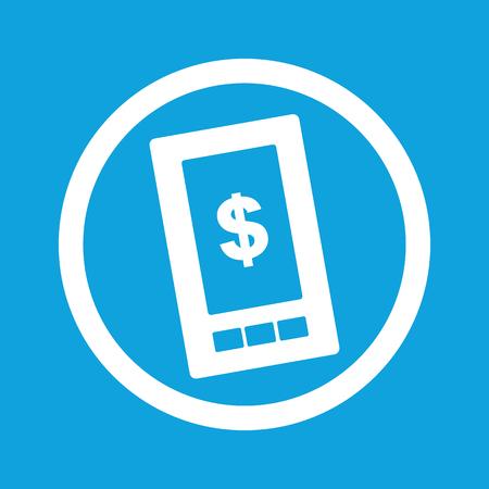 screen: Dollar on screen sign icon
