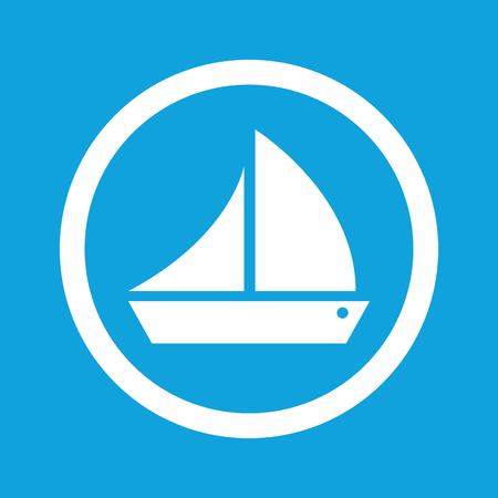 ship sign: Sailing ship sign icon