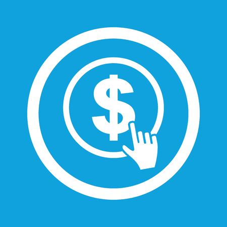 dollar sign icon: Click on dollar sign icon Illustration