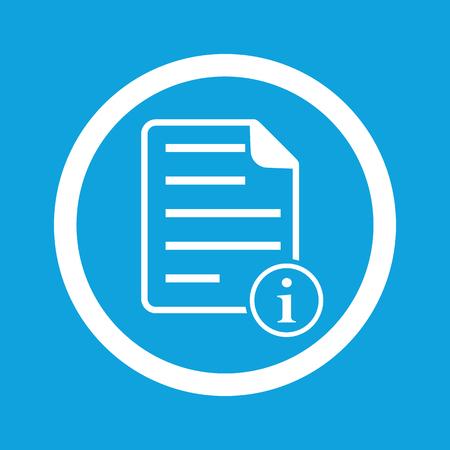 Information document sign icon Illustration