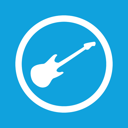 lead guitar: Guitar sign icon