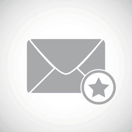 sender: Grey image of envelope and star, on white gradient background