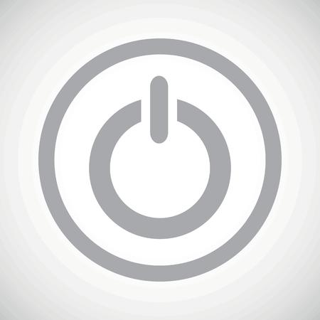 technics: Grey power symbol in circle, on white gradient background