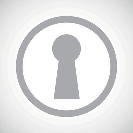 slit: Grey image of keyhole in circle, on white gradient background Illustration