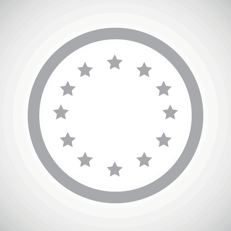 european integration: Grey EU emblem in circle, on white gradient background